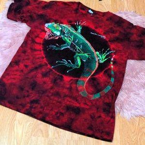 🔥3/30🔥 Tie Dye Iguana Mexico Destination Shirt